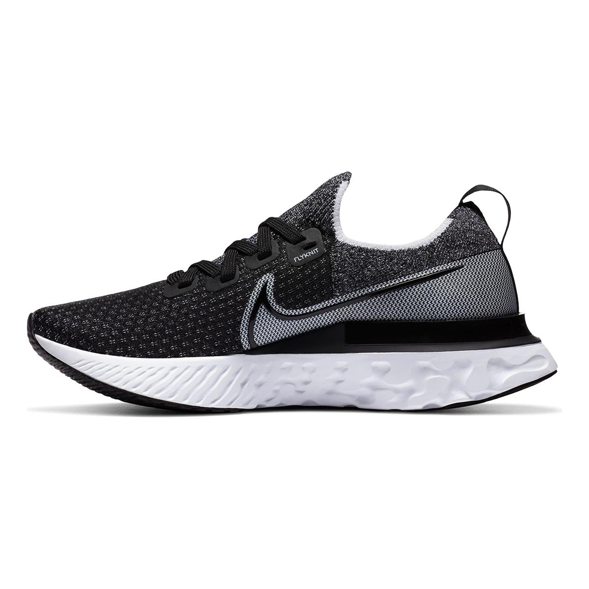 Women's Nike React Infinity Run Flyknit Running Shoe - Color: Black/White/White - Size: 5 - Width: Regular, Black/White/White, large, image 4
