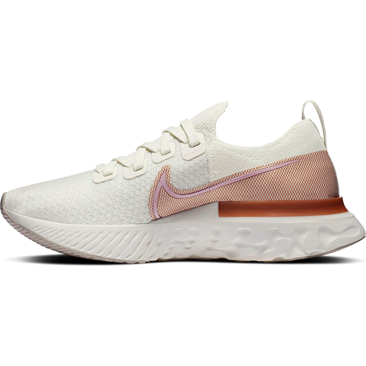 Women's Nike Nike React Infinity Run Flyknit Running Shoe - Color: Sail/Metallic Copper/White/Light Arctic Pink - Size: 5 - Width: Regular, Sail/Metallic Copper/White/Light Arctic Pink, large, image 2