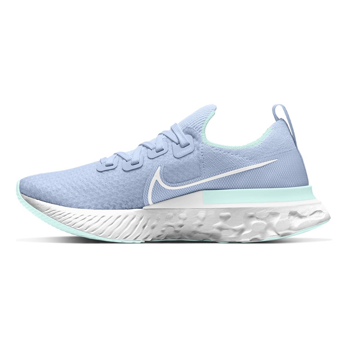 Women's Nike React Infinity Run Flyknit Running Shoe - Color: Hydrogen Blue/Teal Tint/Metallic Silver/White (Regular Width) - Size: 5, Hydrogen Blue/Teal Tint/Metallic Silver/White, large, image 2