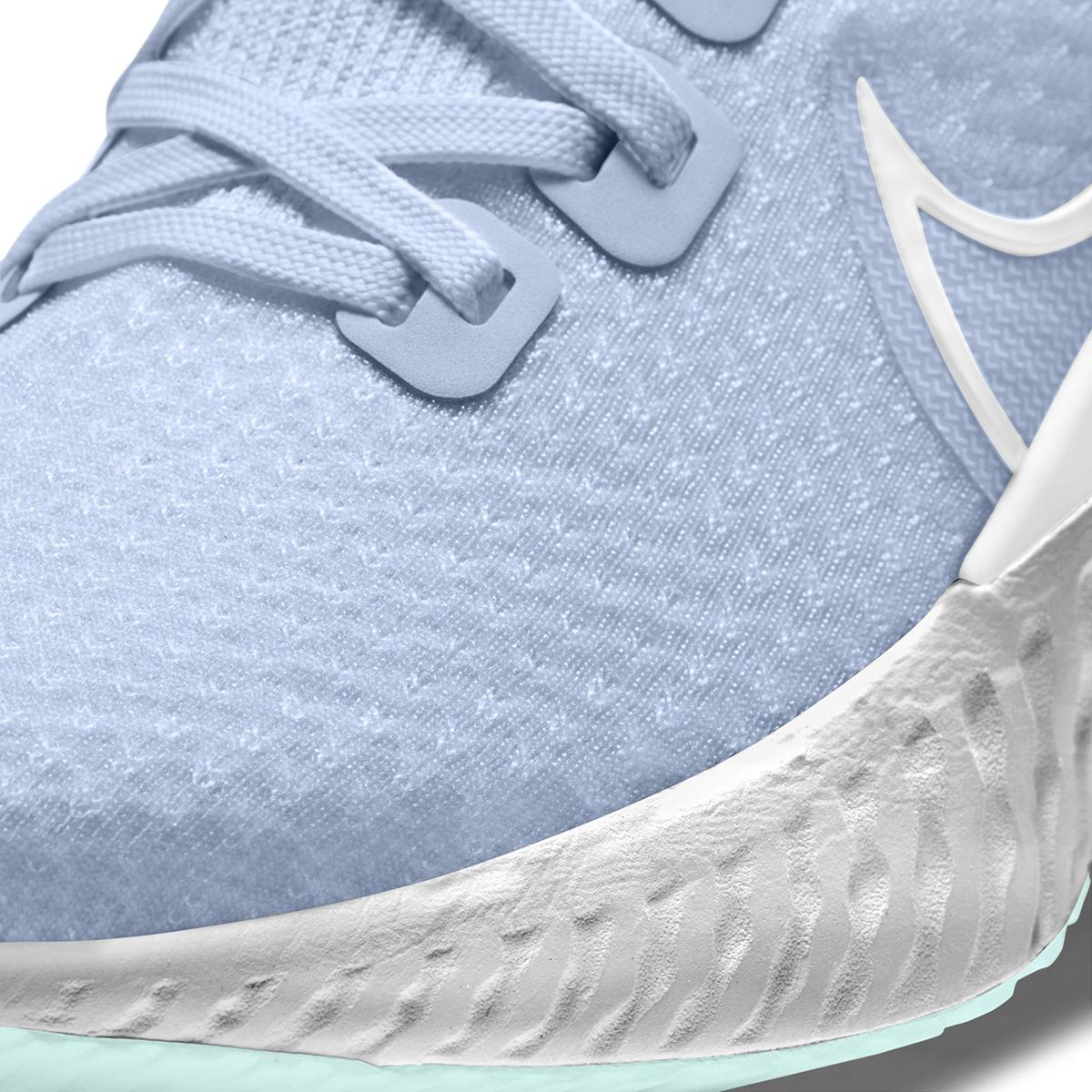 Women's Nike React Infinity Run Flyknit Running Shoe - Color: Hydrogen Blue/Teal Tint/Metallic Silver/White (Regular Width) - Size: 5, Hydrogen Blue/Teal Tint/Metallic Silver/White, large, image 4