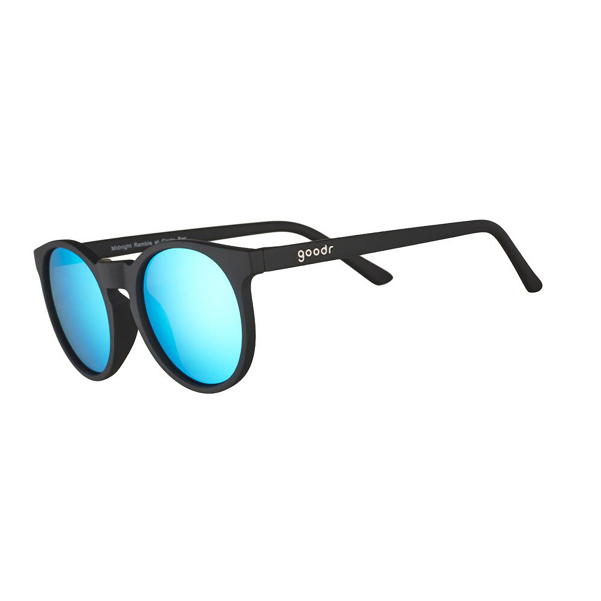 Goodr Midnight Ramble At Circle Bar Sunglasses - Color: Black - Size: OS, Black, large, image 1