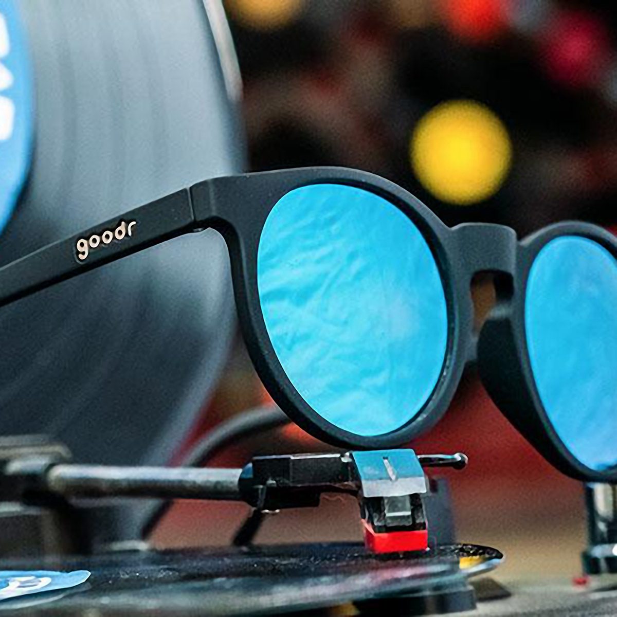 Goodr Midnight Ramble At Circle Bar Sunglasses - Color: Black - Size: OS, Black, large, image 4