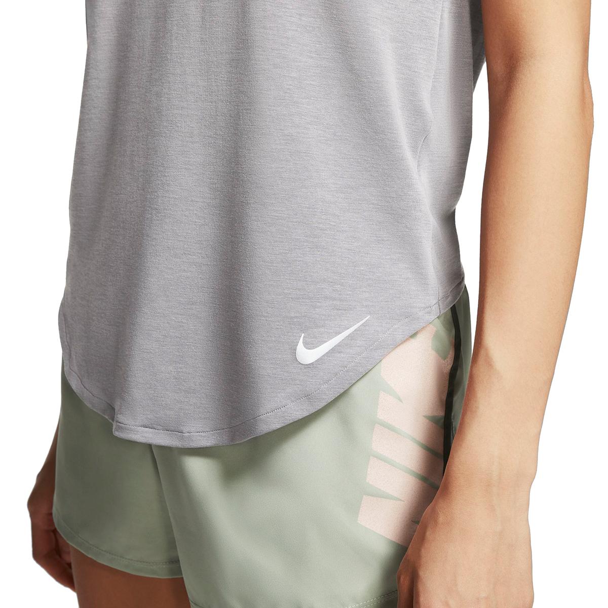 Women's Nike Twist Top Short Sleeve   - Color: Gunsmoke/Heather - Size: XL, Gunsmoke/Heather, large, image 4