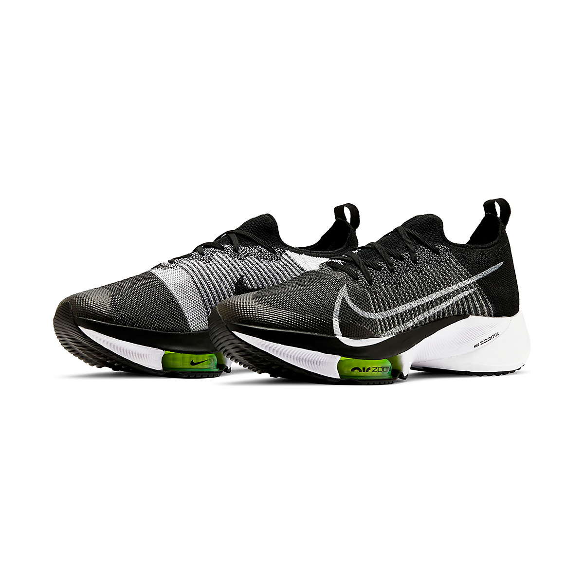 Men's Nike Air Zoom Tempo NEXT% Running Shoe - Color: Black/White-Volt - Size: 6 - Width: Regular, Black/White-Volt, large, image 4
