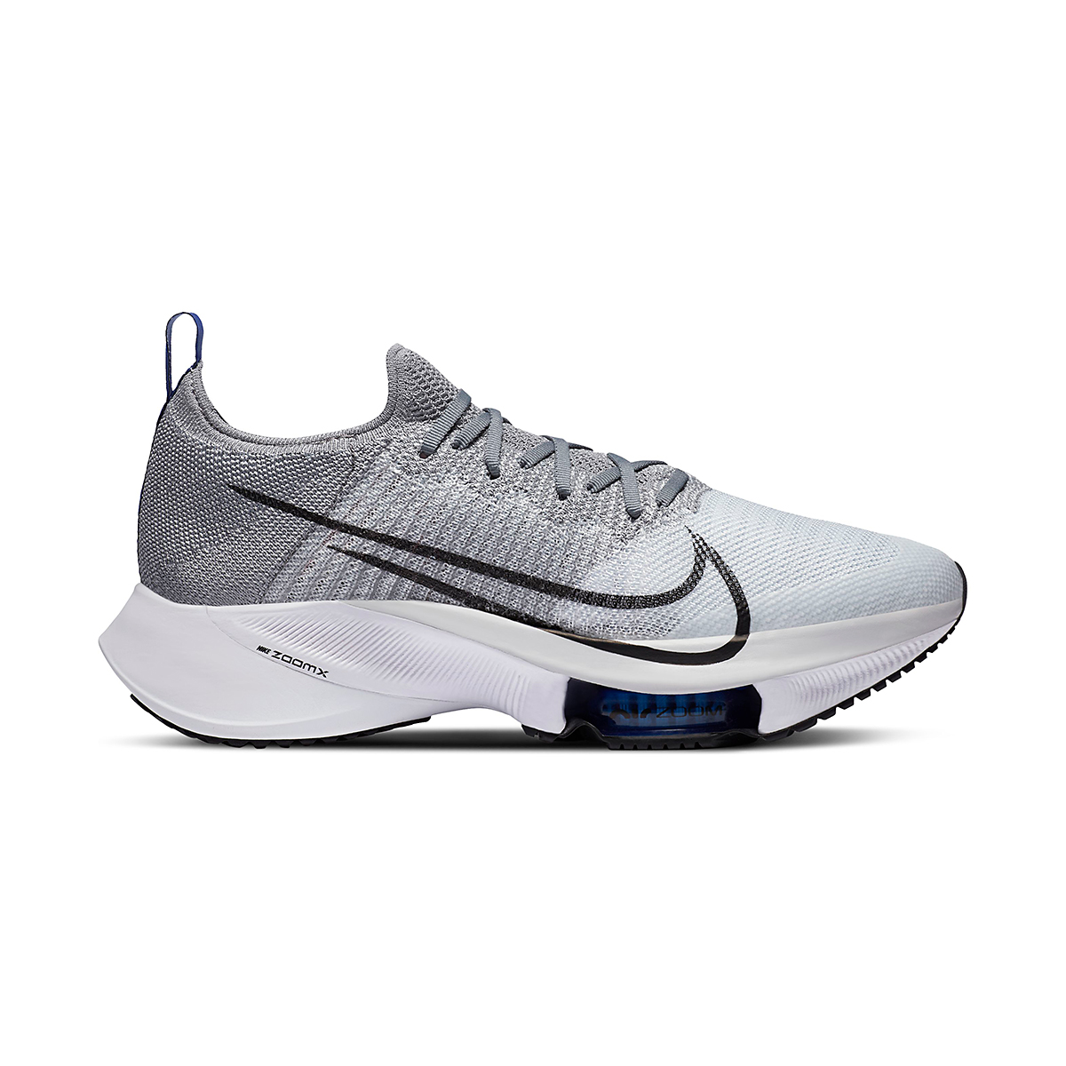 Men's Nike Air Zoom Tempo NEXT% Running Shoe - Color: Particle Grey/Black-Pure Platinum - Size: 6 - Width: Regular, Particle Grey/Black-Pure Platinum, large, image 1