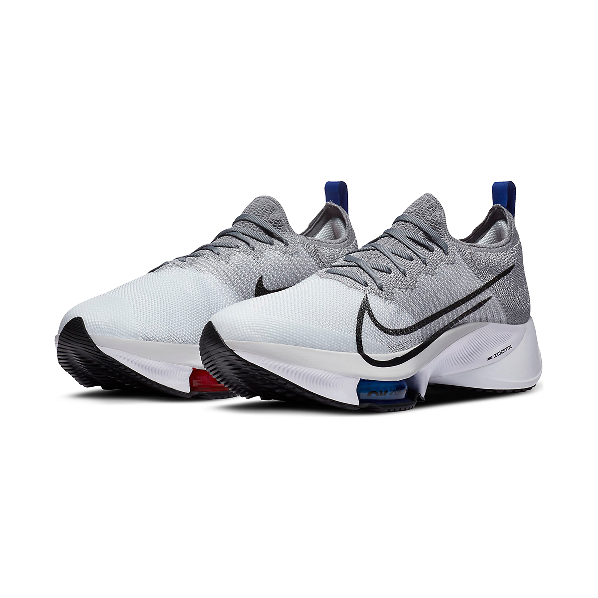 Men's Nike Air Zoom Tempo NEXT% Running Shoe - Color: Particle Grey/Black-Pure Platinum - Size: 6 - Width: Regular, Particle Grey/Black-Pure Platinum, large, image 4