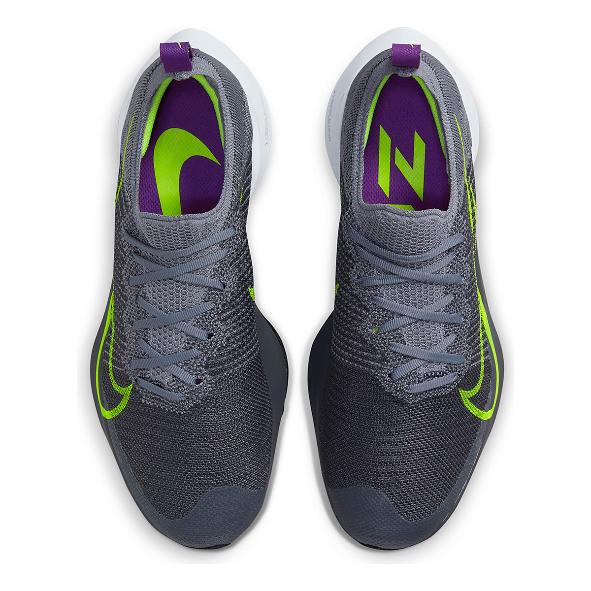 Men's Nike Air Zoom Tempo Next% Running Shoe - Color: Perticle Grey/Volt Grey/Wild Berry - Size: 10 - Width: Regular, Perticle Grey/Volt Grey/Wild Berry, large, image 5
