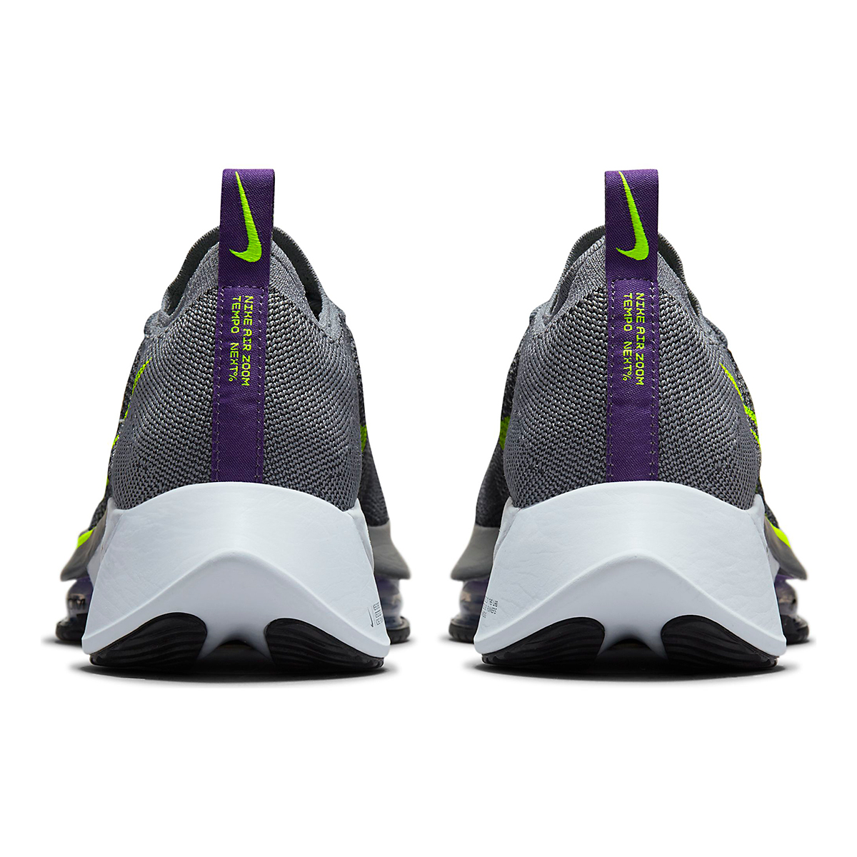 Men's Nike Air Zoom Tempo Next% Running Shoe - Color: Perticle Grey/Volt Grey/Wild Berry - Size: 10 - Width: Regular, Perticle Grey/Volt Grey/Wild Berry, large, image 6