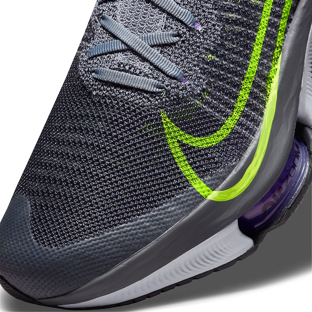 Men's Nike Air Zoom Tempo Next% Running Shoe - Color: Perticle Grey/Volt Grey/Wild Berry - Size: 10 - Width: Regular, Perticle Grey/Volt Grey/Wild Berry, large, image 7