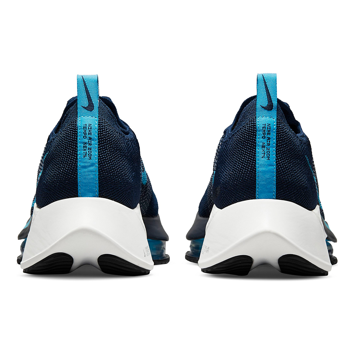 Men's Nike Air Zoom Tempo Next% Running Shoe - Color: College Navy/Chlorine Blue/Platinum Tint - Size: 7.5 - Width: Regular, College Navy/Chlorine Blue/Platinum Tint, large, image 5