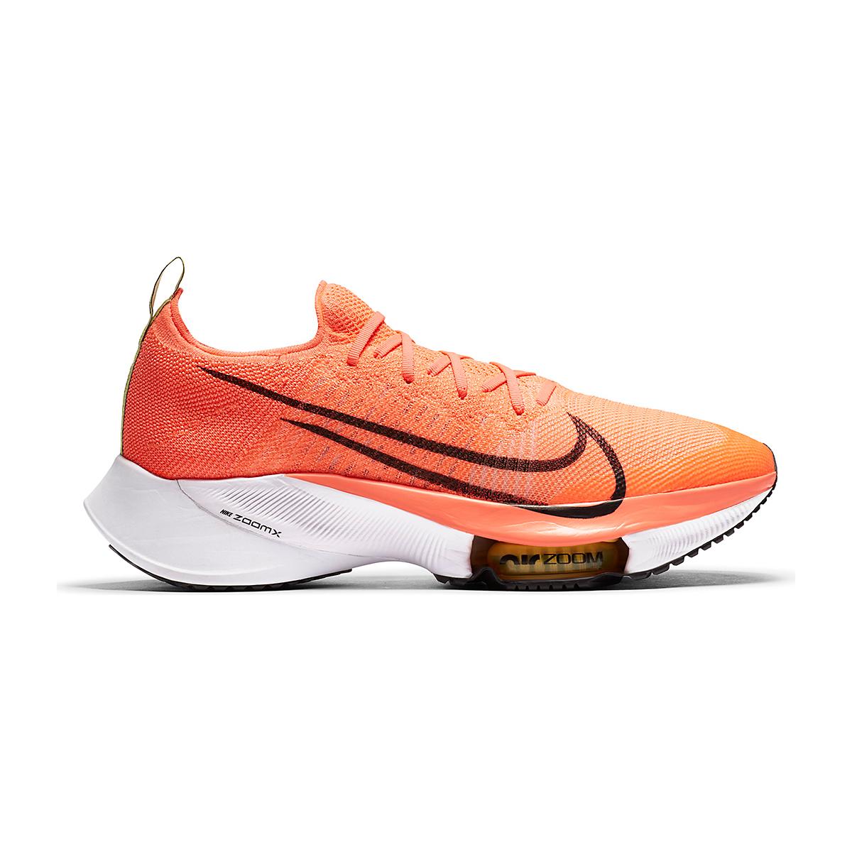 Men's Nike Air Zoom Tempo NEXT% Running Shoe - Color: Bright Mango/Black-Citron Pulse - Size: 6 - Width: Regular, Bright Mango/Black-Citron Pulse, large, image 1