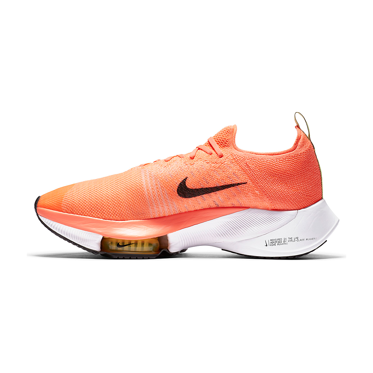 Men's Nike Air Zoom Tempo NEXT% Running Shoe - Color: Bright Mango/Black-Citron Pulse - Size: 6 - Width: Regular, Bright Mango/Black-Citron Pulse, large, image 2