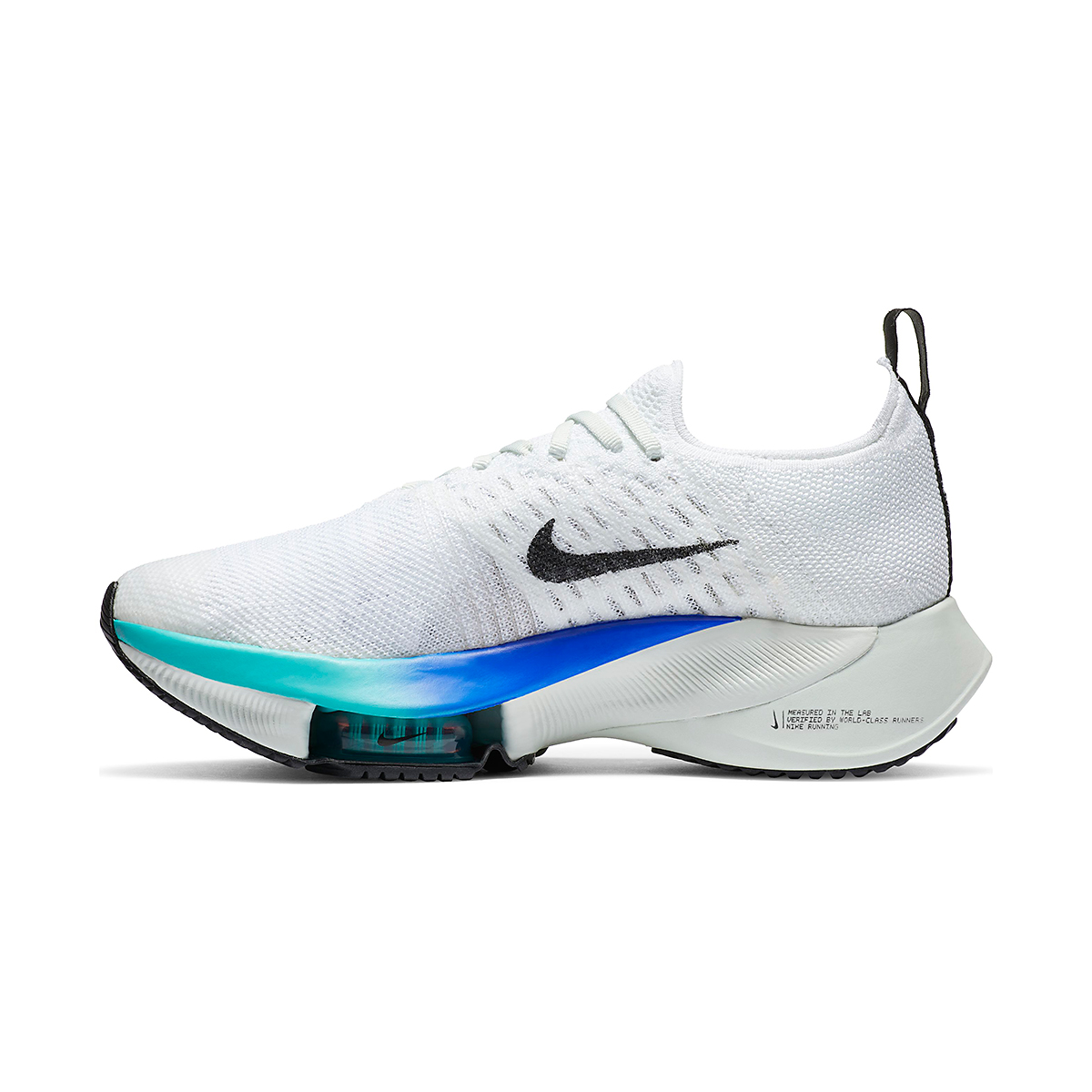 Women's Nike Air Zoom Tempo NEXT% Running Shoe - Color: White/Black-Hyper Violet-Flash Crimson  - Size: 5 - Width: Regular, White/Black-Hyper Violet-Flash Crimson, large, image 2