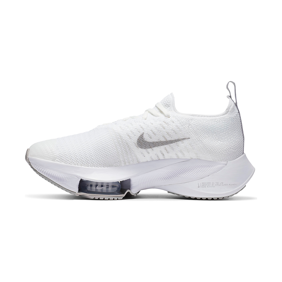 Women's Nike Air Zoom Tempo NEXT% Running Shoe - Color: White/Atmosphere Grey-Pure Platinum - Size: 5 - Width: Regular, White/Atmosphere Grey-Pure Platinum, large, image 2