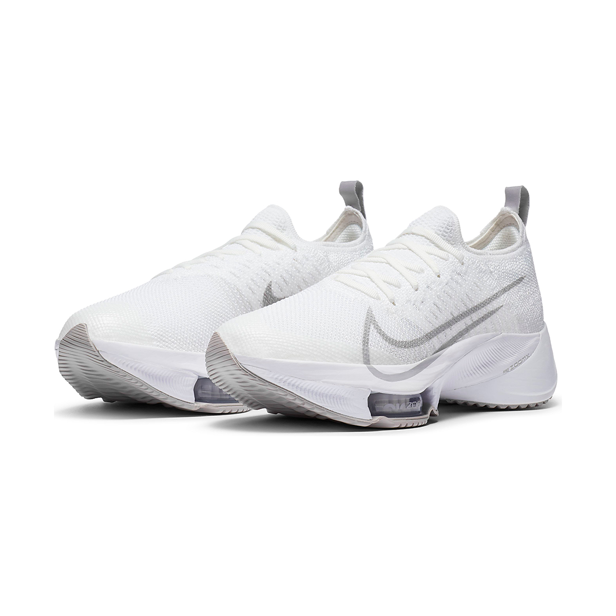 Women's Nike Air Zoom Tempo NEXT% Running Shoe - Color: White/Atmosphere Grey-Pure Platinum - Size: 5 - Width: Regular, White/Atmosphere Grey-Pure Platinum, large, image 4