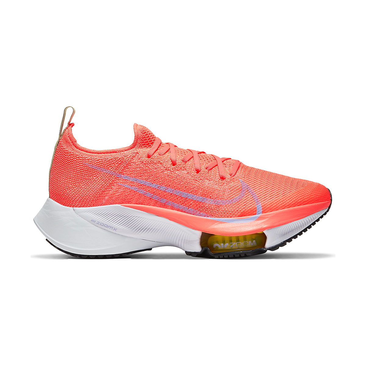 Women's Nike Air Zoom Tempo NEXT% Running Shoe - Color: Bright Mango/Purple Pulse-White - Size: 5.5 - Width: Regular, Bright Mango/Purple Pulse-White, large, image 1