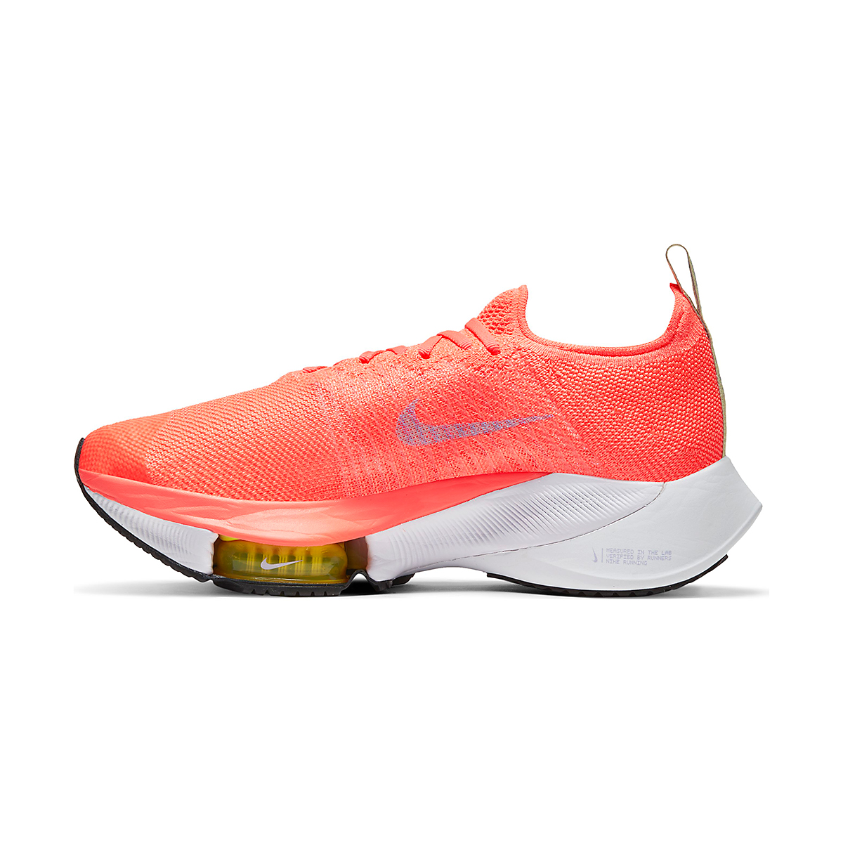 Women's Nike Air Zoom Tempo NEXT% Running Shoe - Color: Bright Mango/Purple Pulse-White - Size: 5.5 - Width: Regular, Bright Mango/Purple Pulse-White, large, image 2