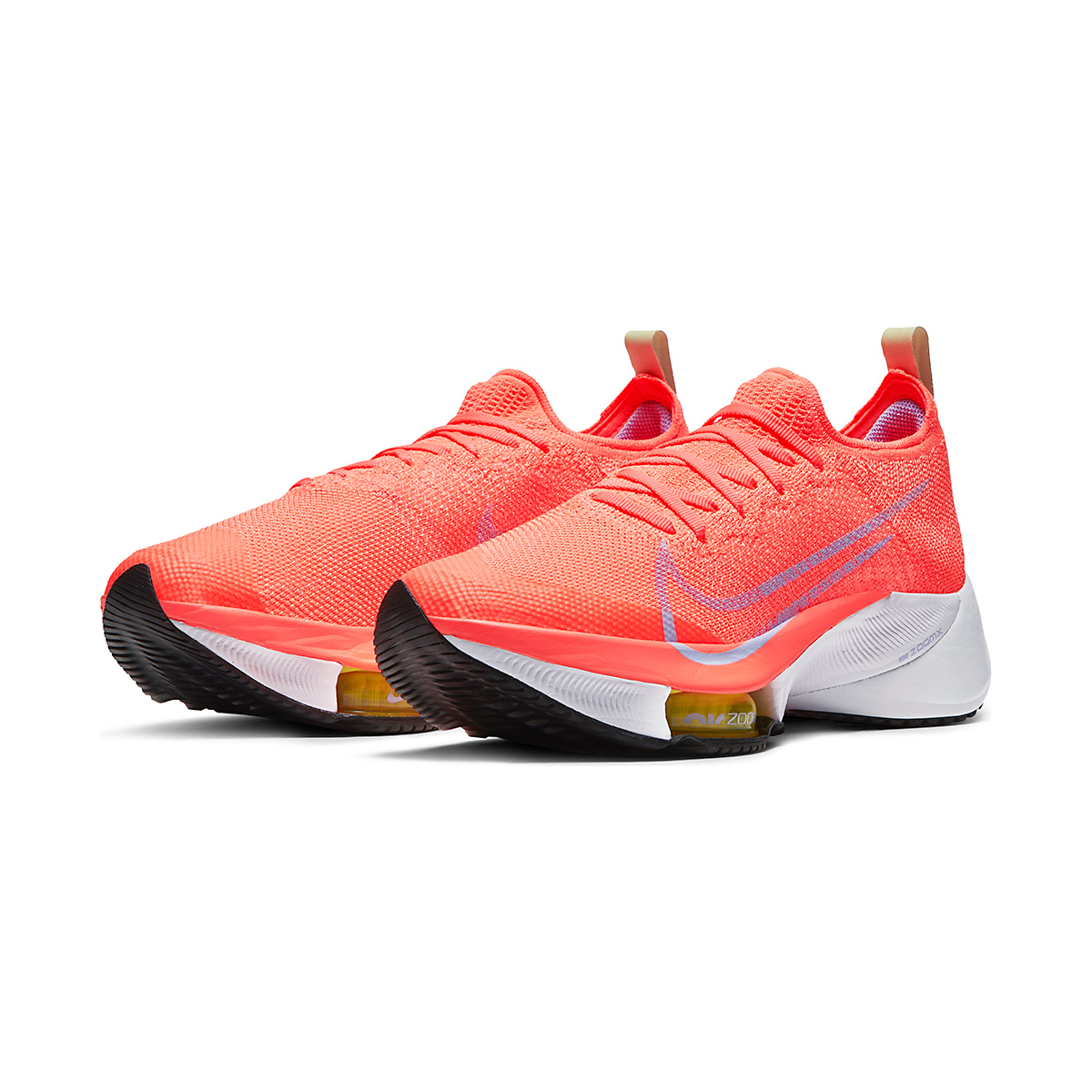 Women's Nike Air Zoom Tempo NEXT% Running Shoe - Color: Bright Mango/Purple Pulse-White - Size: 5.5 - Width: Regular, Bright Mango/Purple Pulse-White, large, image 4