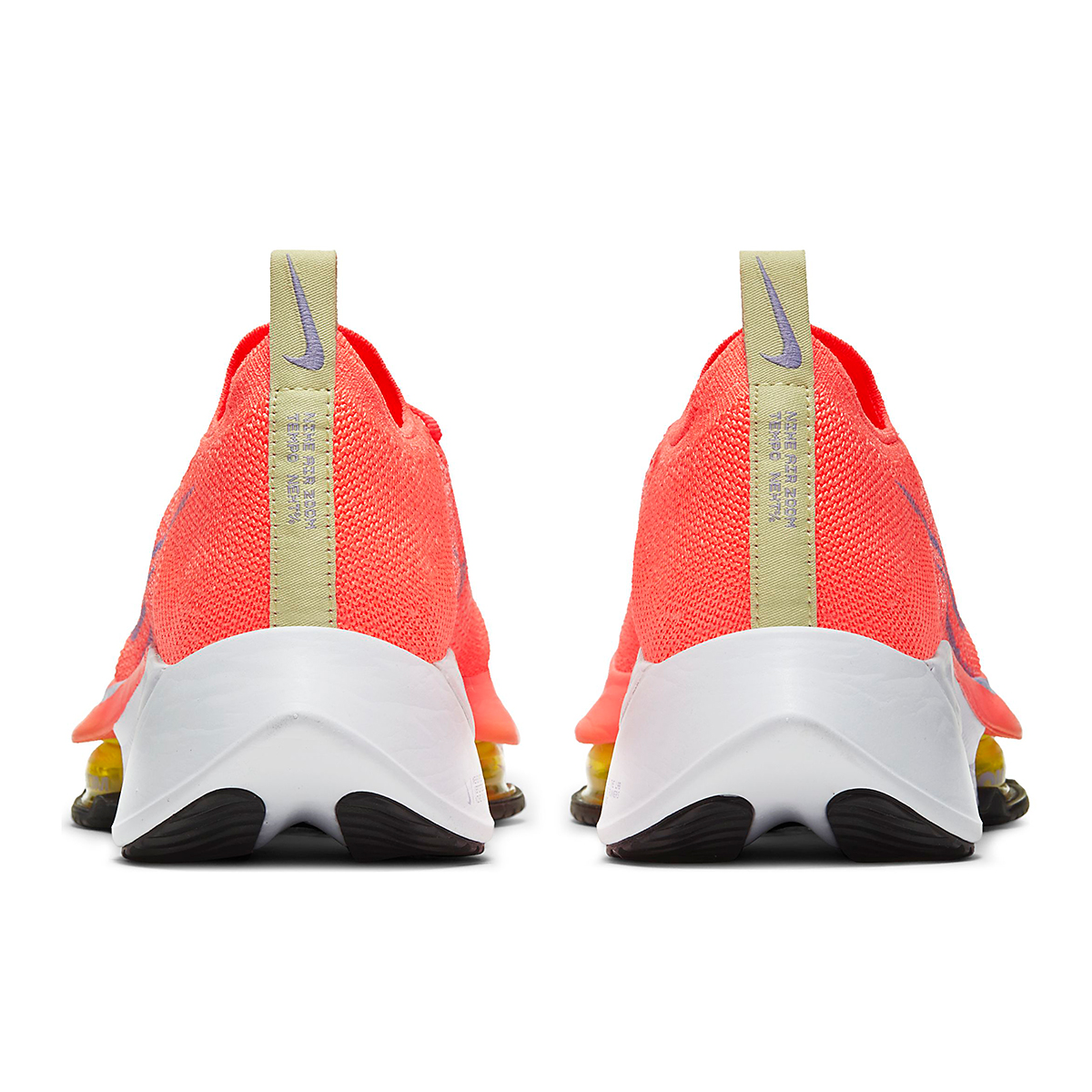 Women's Nike Air Zoom Tempo NEXT% Running Shoe - Color: Bright Mango/Purple Pulse-White - Size: 5.5 - Width: Regular, Bright Mango/Purple Pulse-White, large, image 5