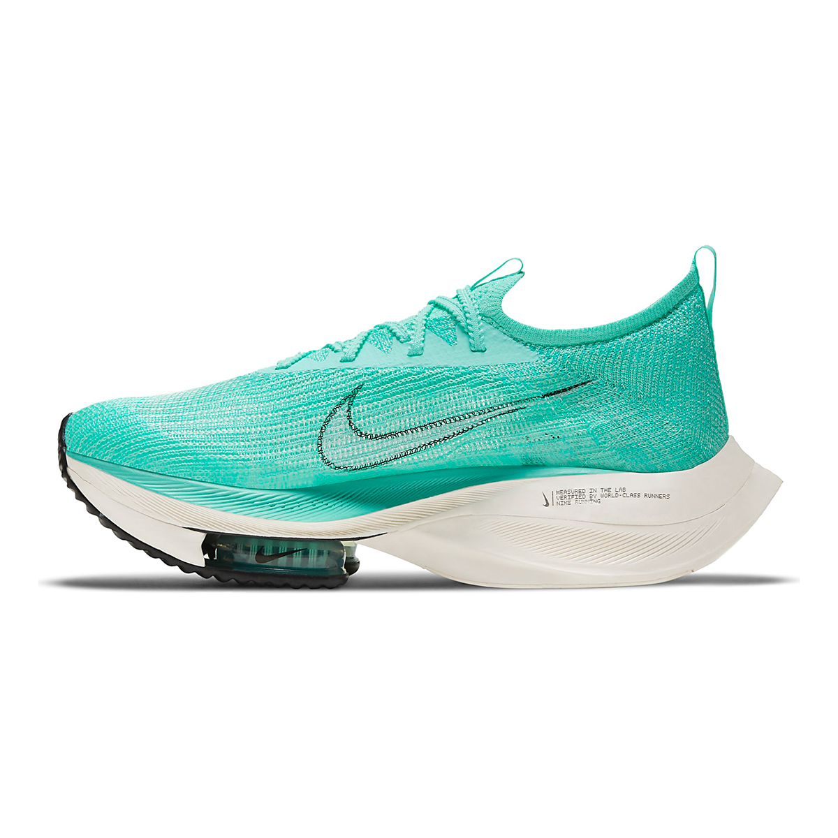 Men's Nike Air Zoom Alphafly Next% Running Shoe - Color: Hyper Turq/White-Black-Oracle Aqua - Size: 6 - Width: Regular, Hyper Turq/White-Black-Oracle Aqua, large, image 2