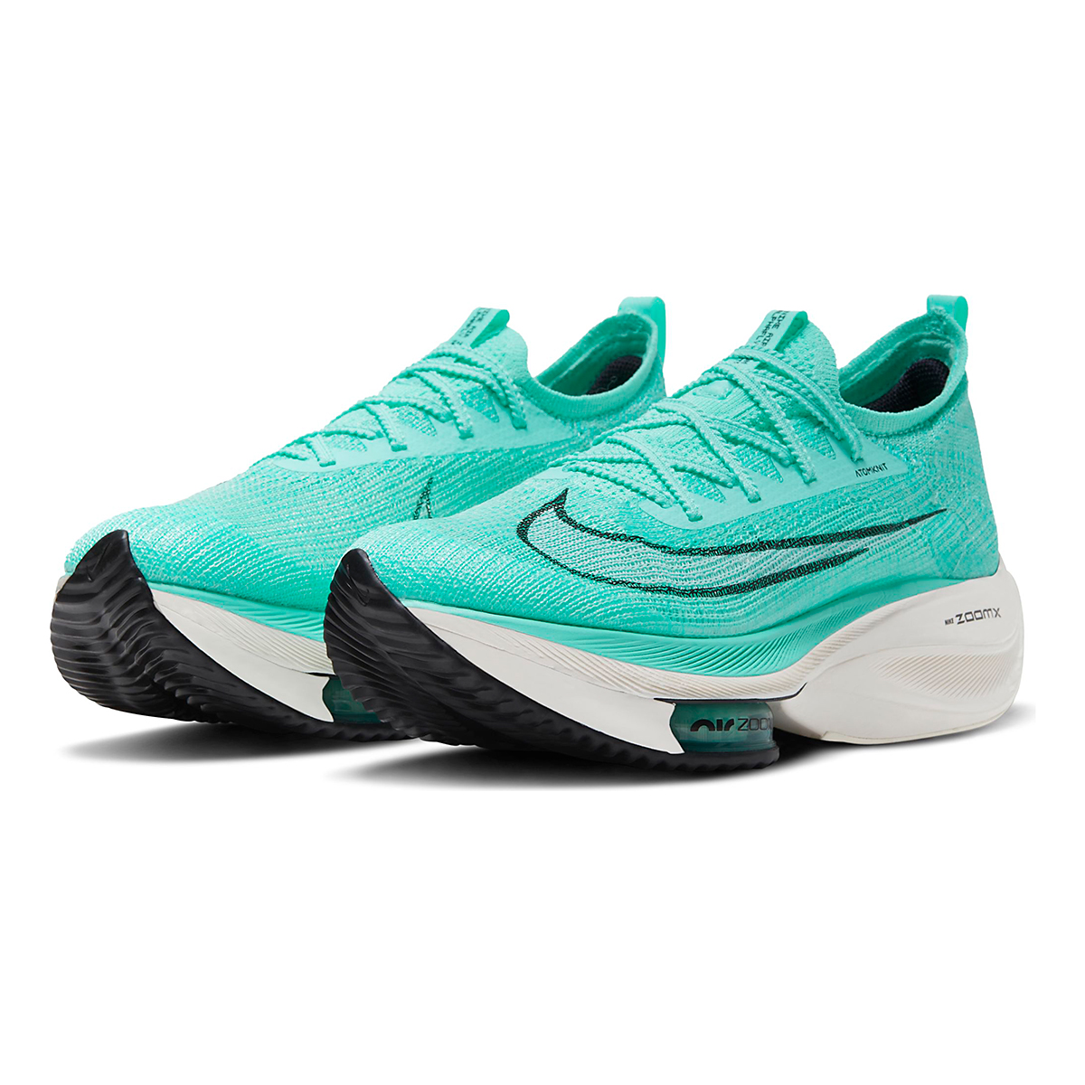 Men's Nike Air Zoom Alphafly Next% Running Shoe - Color: Hyper Turq/White-Black-Oracle Aqua - Size: 6 - Width: Regular, Hyper Turq/White-Black-Oracle Aqua, large, image 5