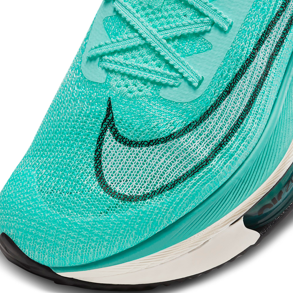 Men's Nike Air Zoom Alphafly Next% Running Shoe - Color: Hyper Turq/White-Black-Oracle Aqua - Size: 6 - Width: Regular, Hyper Turq/White-Black-Oracle Aqua, large, image 6