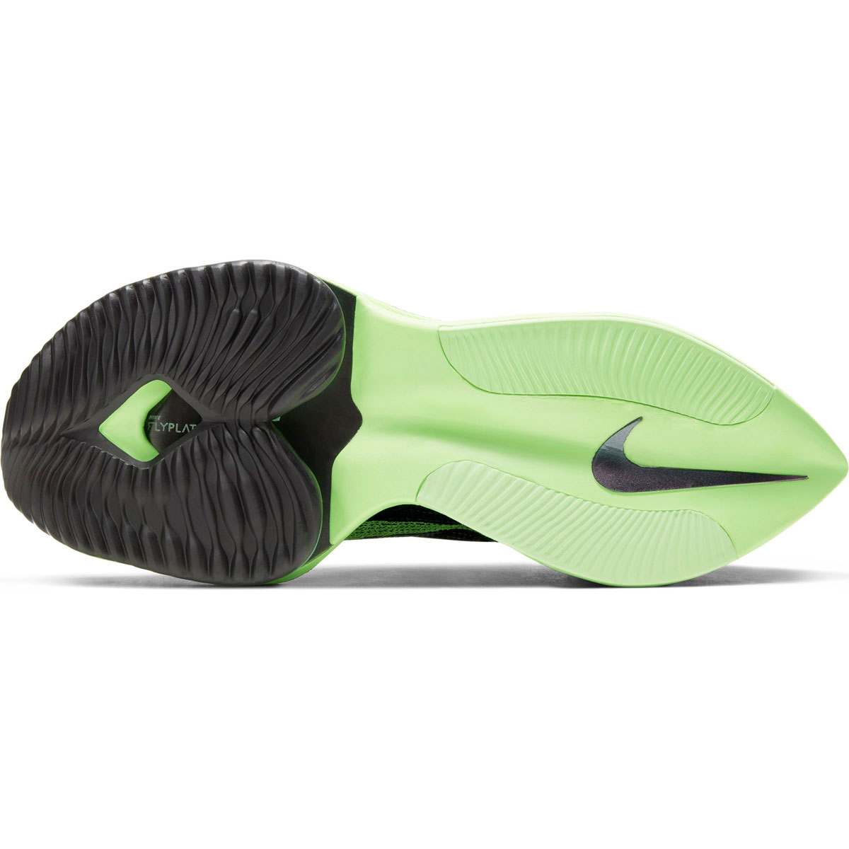 Men's Nike Air Zoom Alphafly Next% Running Shoe - Color: Black/Lime Blast - Size: 6 - Width: Regular, Black/Lime Blast, large, image 3