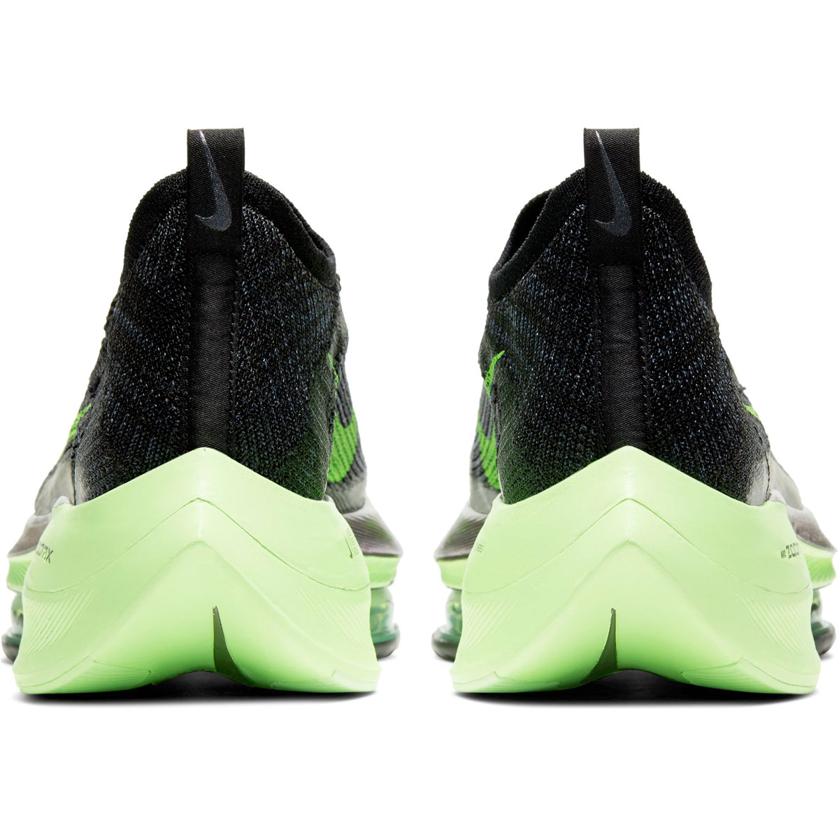 Men's Nike Air Zoom Alphafly Next% Running Shoe - Color: Black/Lime Blast - Size: 6 - Width: Regular, Black/Lime Blast, large, image 5