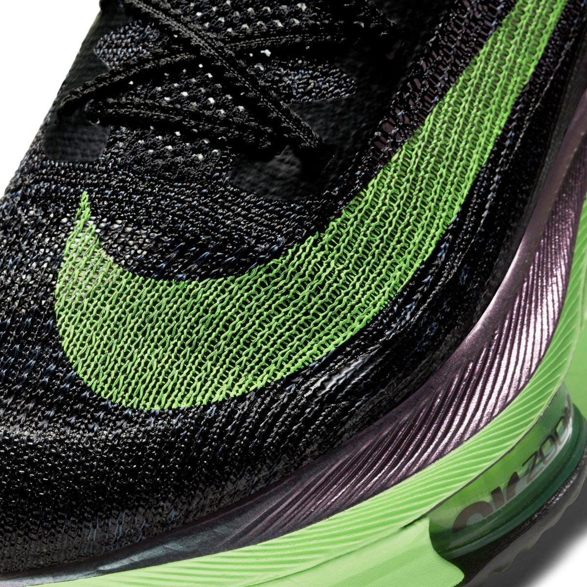Men's Nike Air Zoom Alphafly Next% Running Shoe - Color: Black/Lime Blast - Size: 6 - Width: Regular, Black/Lime Blast, large, image 7