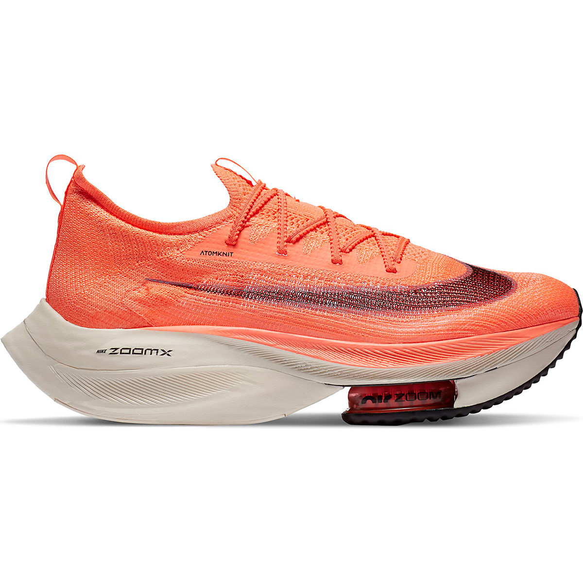 Men's Nike Air Zoom Alphafly NEXT% Running Shoe - Color: Bright Mango/Citron Pulse - Size: 6 - Width: Regular, Bright Mango/Citron Pulse, large, image 1