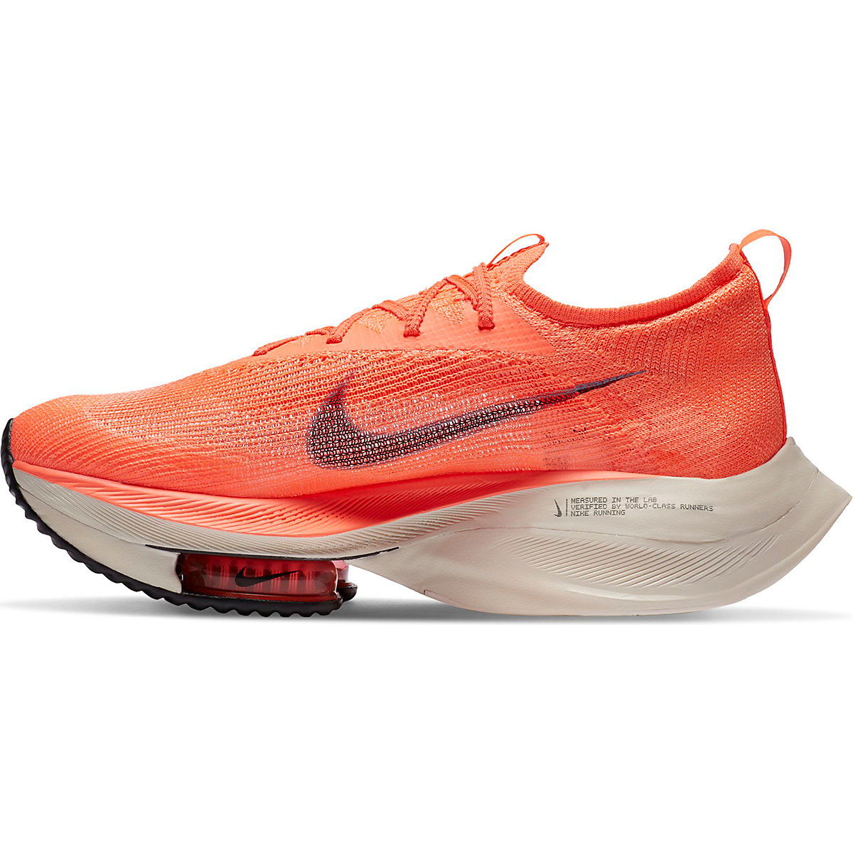 Men's Nike Air Zoom Alphafly NEXT% Running Shoe - Color: Bright Mango/Citron Pulse - Size: 6 - Width: Regular, Bright Mango/Citron Pulse, large, image 2