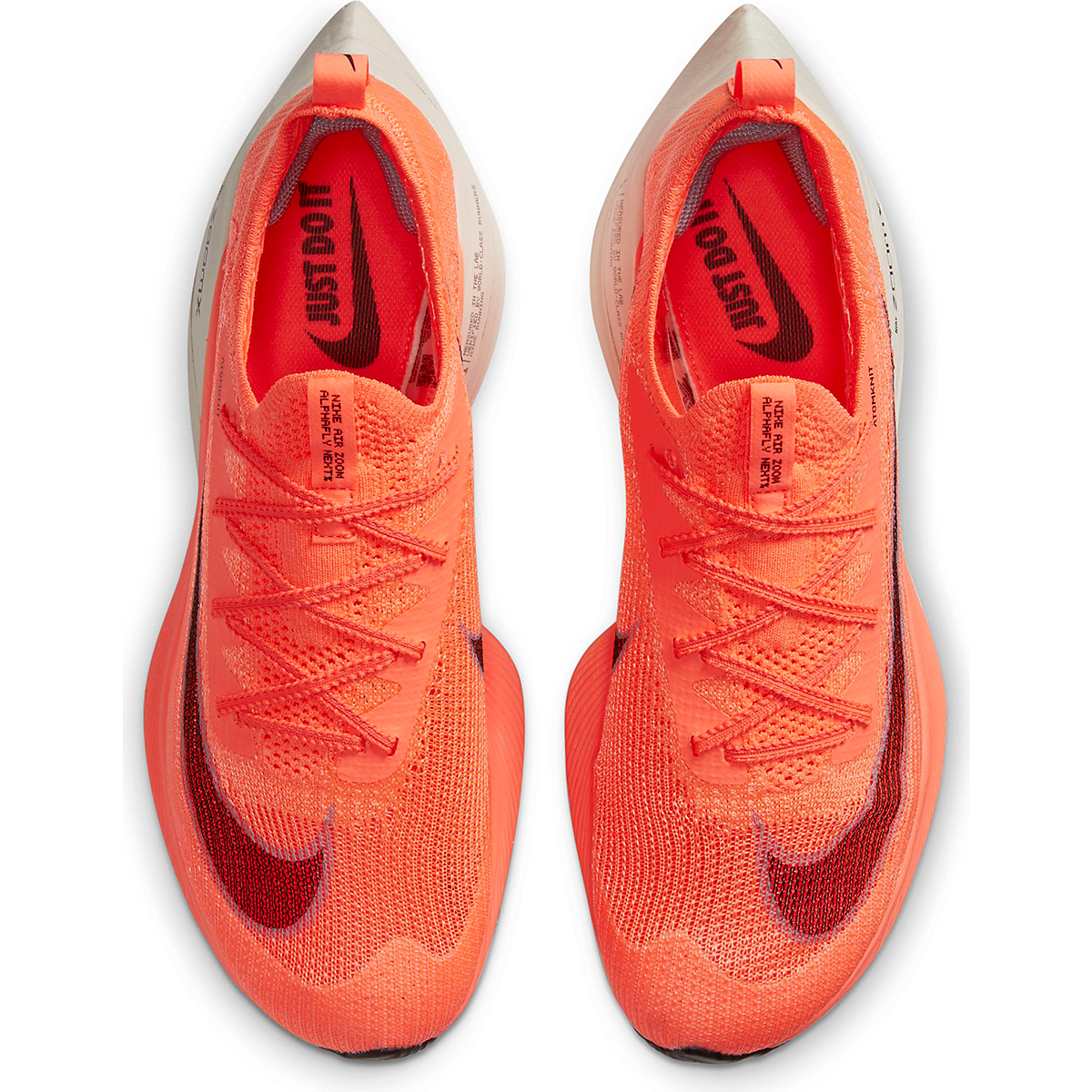 Men's Nike Air Zoom Alphafly NEXT% Running Shoe - Color: Bright Mango/Citron Pulse - Size: 6 - Width: Regular, Bright Mango/Citron Pulse, large, image 3