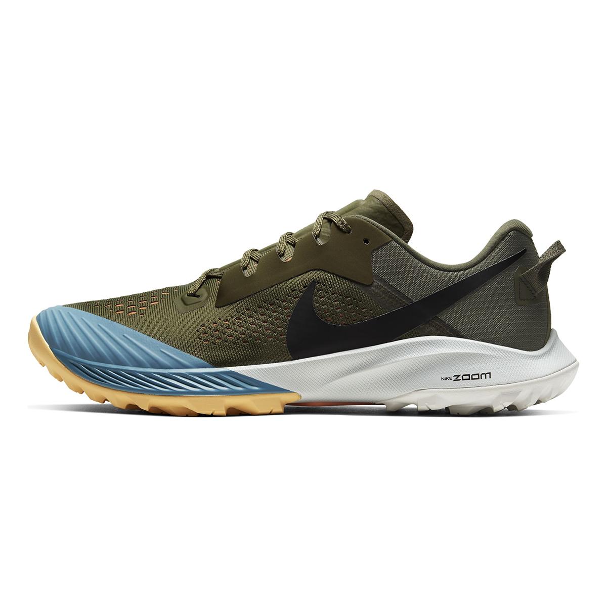 Men's Nike Air Zoom Terra Kiger 6 Trail Running Shoe - Color: Medium Olive/Orange Trance/Cerulean/Black (Regular Width) - Size: 6, Medium Olive/Orange Trance/Cerulean/Black, large, image 2