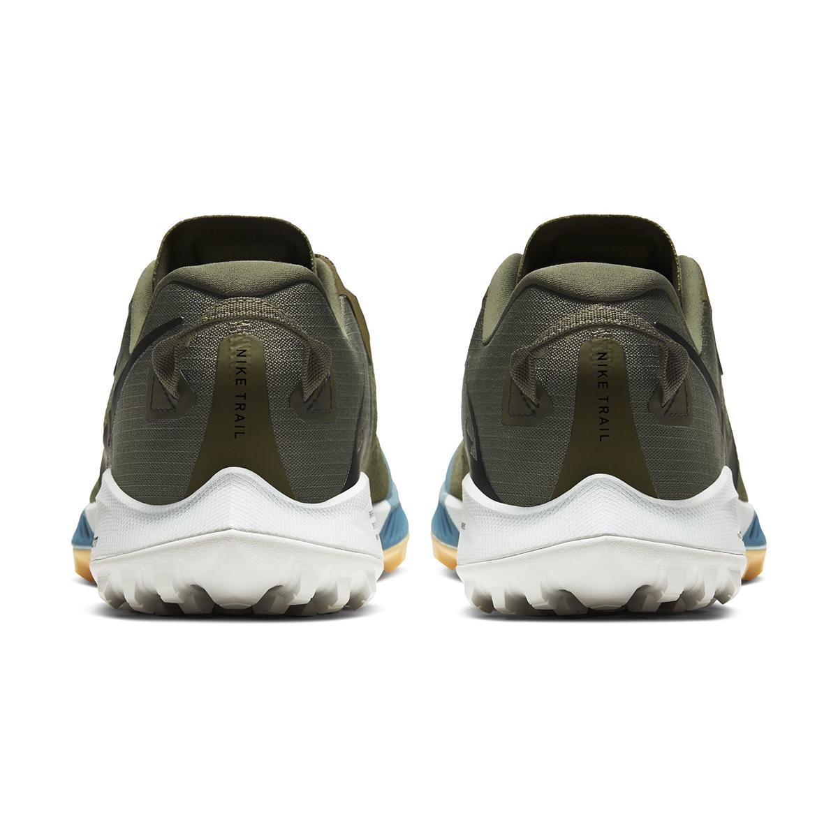 Men's Nike Air Zoom Terra Kiger 6 Trail Running Shoe - Color: Medium Olive/Orange Trance/Cerulean/Black (Regular Width) - Size: 6, Medium Olive/Orange Trance/Cerulean/Black, large, image 3