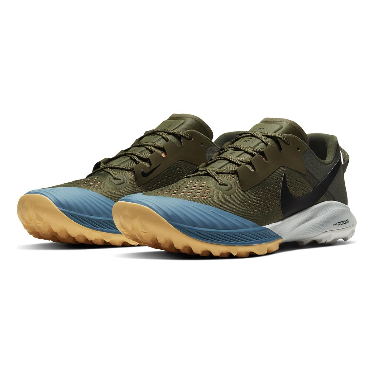 Men's Nike Air Zoom Terra Kiger 6 Trail Running Shoe - Color: Medium Olive/Orange Trance/Cerulean/Black (Regular Width) - Size: 6, Medium Olive/Orange Trance/Cerulean/Black, large, image 4