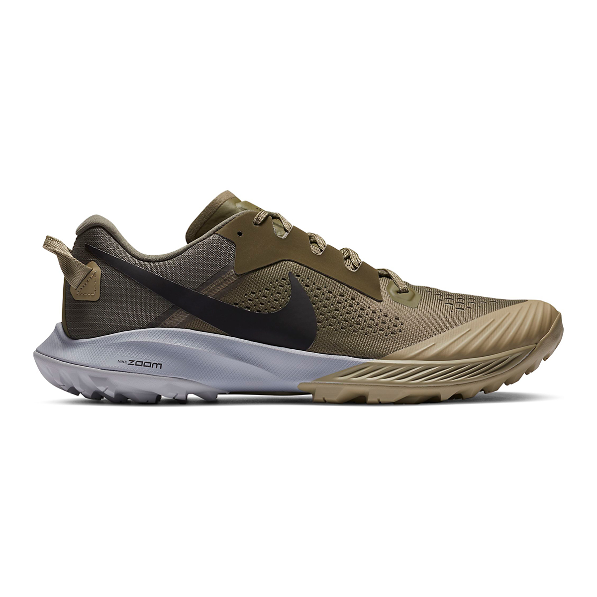 Men's Nike Air Zoom Terra Kiger 6 Trail Running Shoe - Color: Medium Olive/Medium Khaki/Wolf Grey/Black - Size: 6 - Width: Regular, Medium Olive/Medium Khaki/Wolf Grey/Black, large, image 1