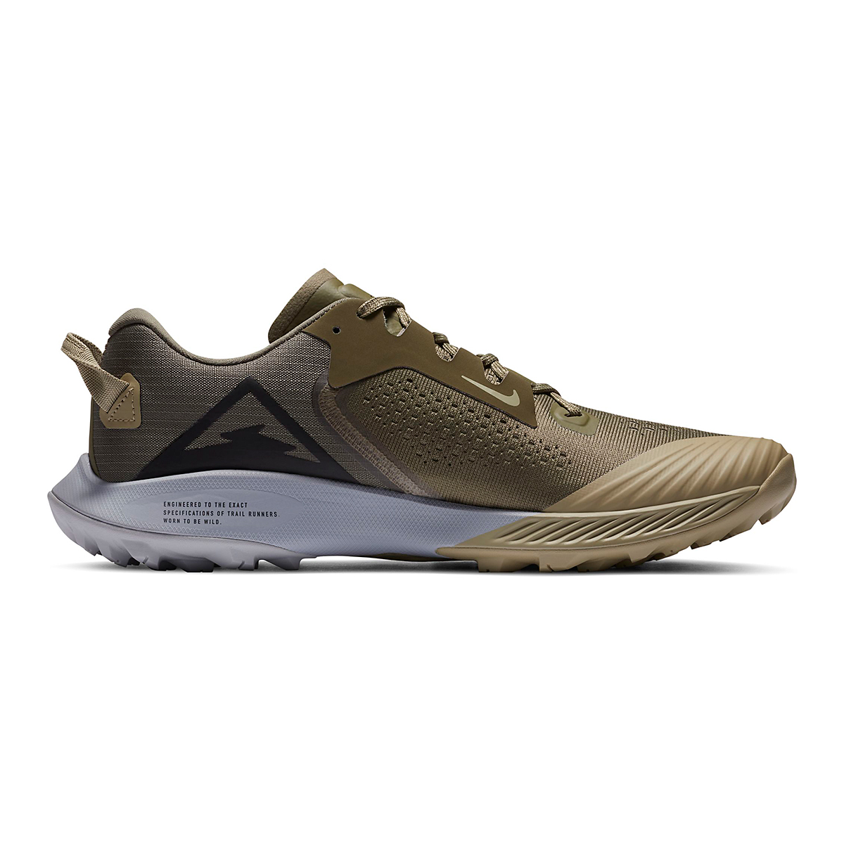 Men's Nike Air Zoom Terra Kiger 6 Trail Running Shoe - Color: Medium Olive/Medium Khaki/Wolf Grey/Black - Size: 6 - Width: Regular, Medium Olive/Medium Khaki/Wolf Grey/Black, large, image 2