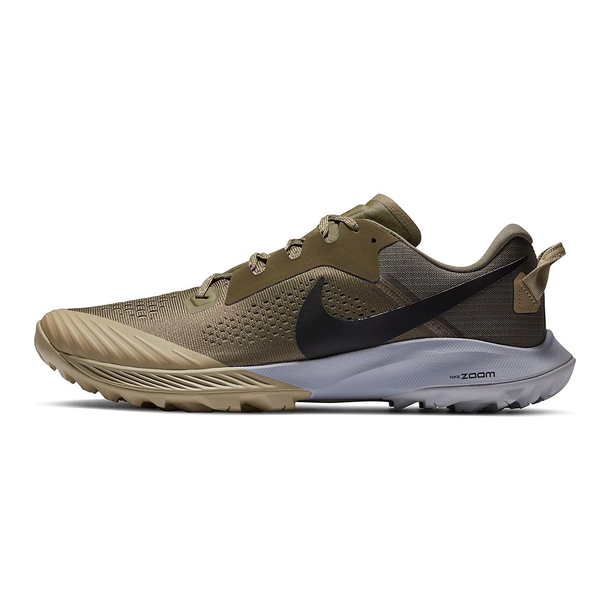 Men's Nike Air Zoom Terra Kiger 6 Trail Running Shoe - Color: Medium Olive/Medium Khaki/Wolf Grey/Black - Size: 6 - Width: Regular, Medium Olive/Medium Khaki/Wolf Grey/Black, large, image 3