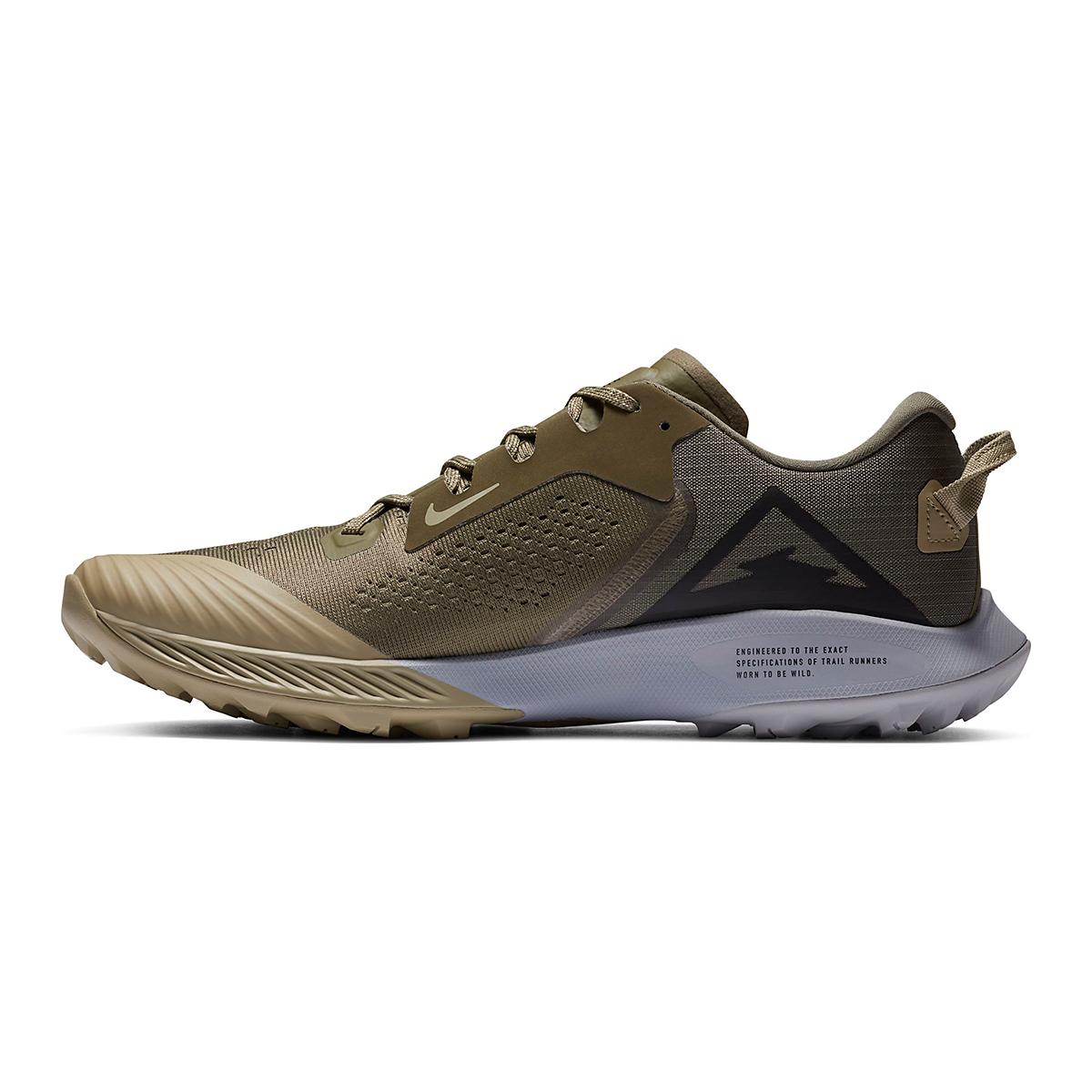 Men's Nike Air Zoom Terra Kiger 6 Trail Running Shoe - Color: Medium Olive/Medium Khaki/Wolf Grey/Black - Size: 6 - Width: Regular, Medium Olive/Medium Khaki/Wolf Grey/Black, large, image 4