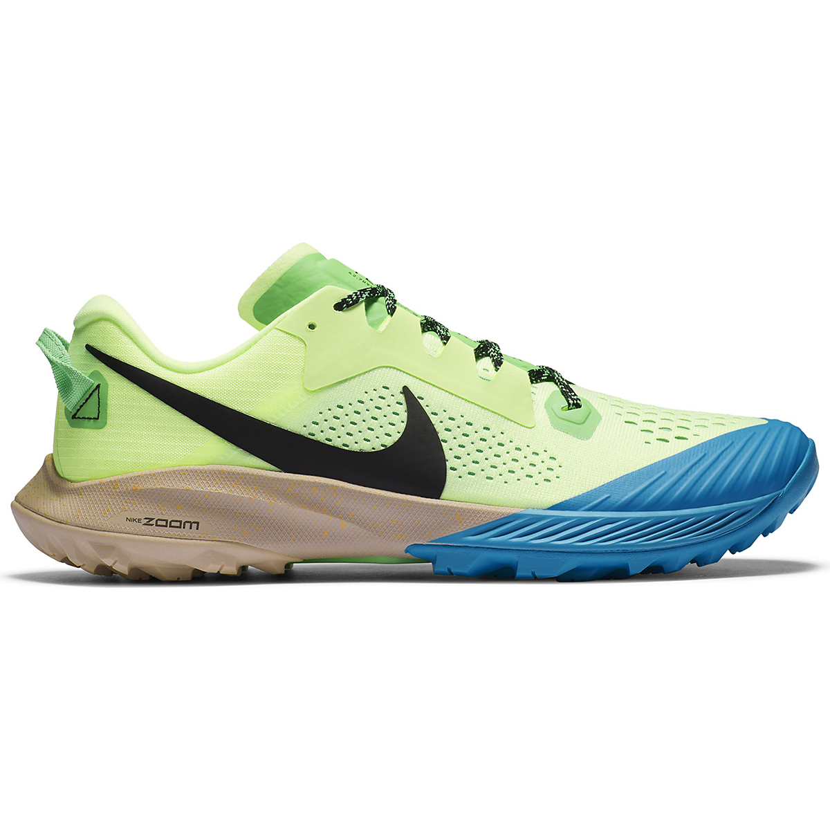 Men's Nike Terra Kiger 6 Trail Running Shoe - Color: Barely Volt/Black-Poison Green - Size: 6 - Width: Regular, Barely Volt/Black-Poison Green, large, image 1