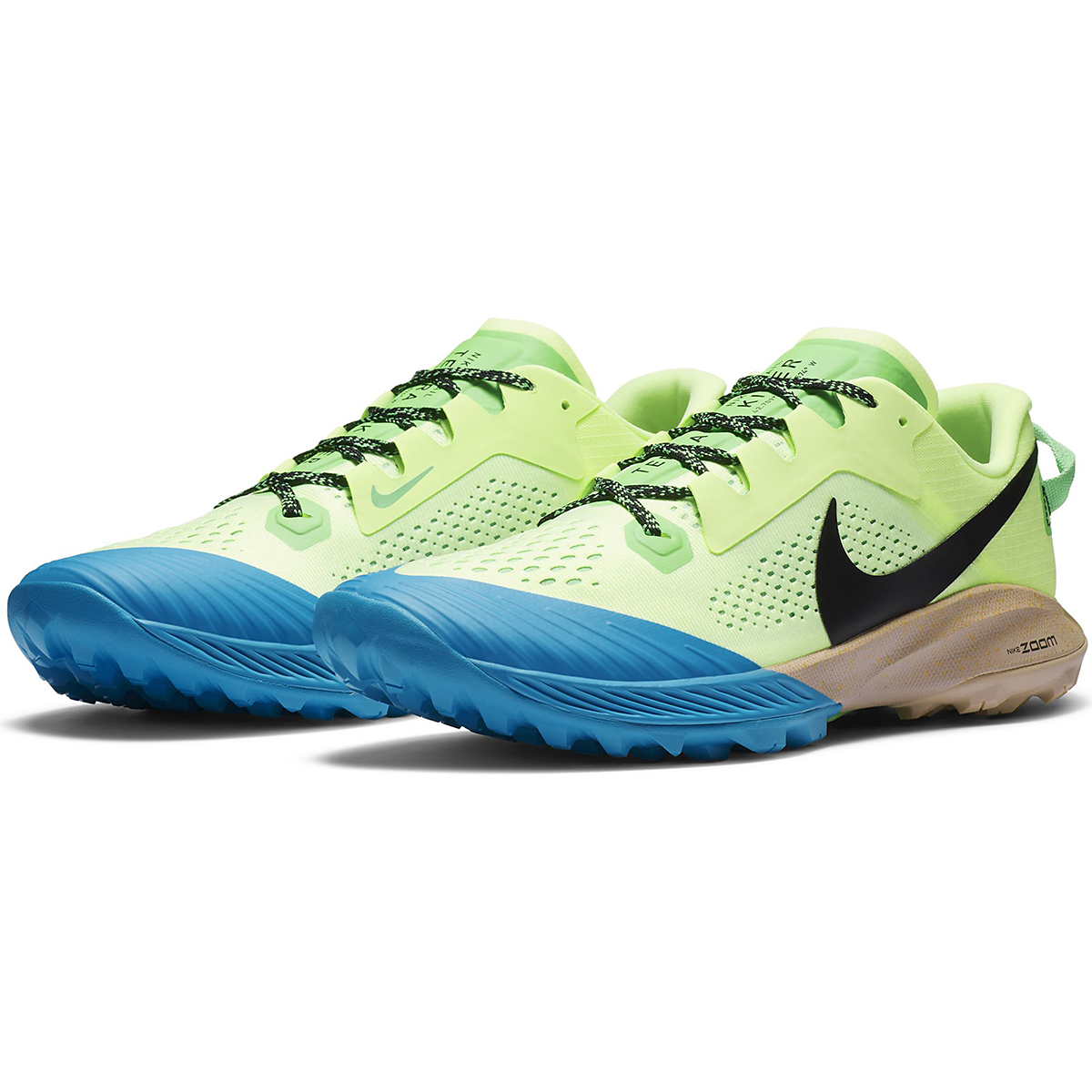 Men's Nike Terra Kiger 6 Trail Running Shoe - Color: Barely Volt/Black-Poison Green - Size: 6 - Width: Regular, Barely Volt/Black-Poison Green, large, image 3