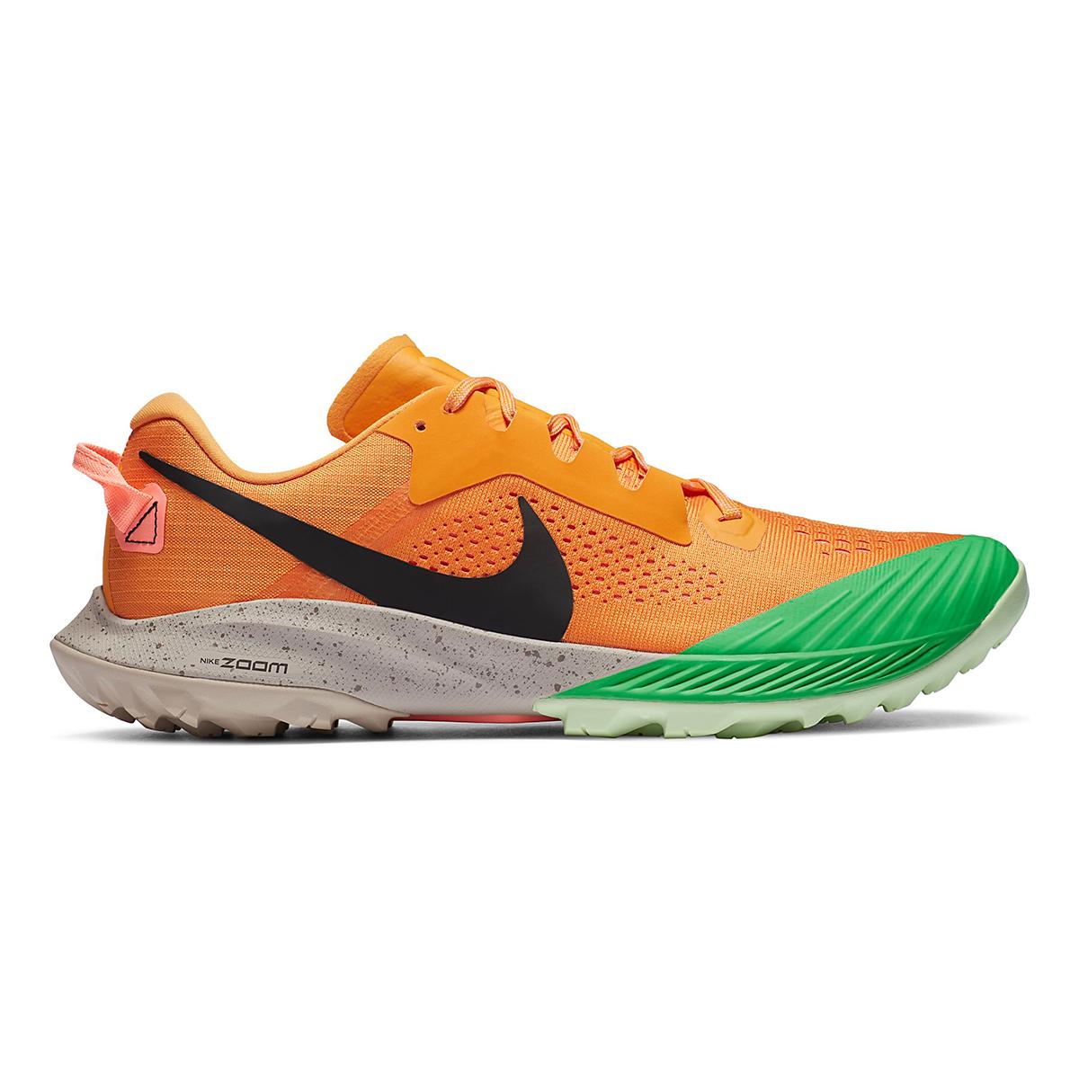 Men's Nike Air Zoom Terra Kiger 6 Trail Running Shoe - Color: Kumquat/Black/Pink Green Spark - Size: 6 - Width: Regular, Kumquat/Black/Pink Green Spark, large, image 1