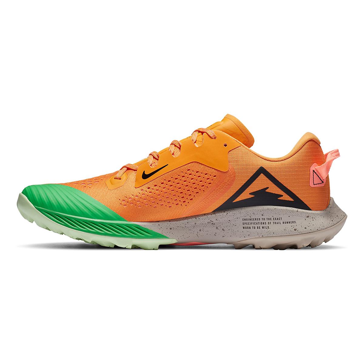 Men's Nike Air Zoom Terra Kiger 6 Trail Running Shoe - Color: Kumquat/Black/Pink Green Spark - Size: 6 - Width: Regular, Kumquat/Black/Pink Green Spark, large, image 2