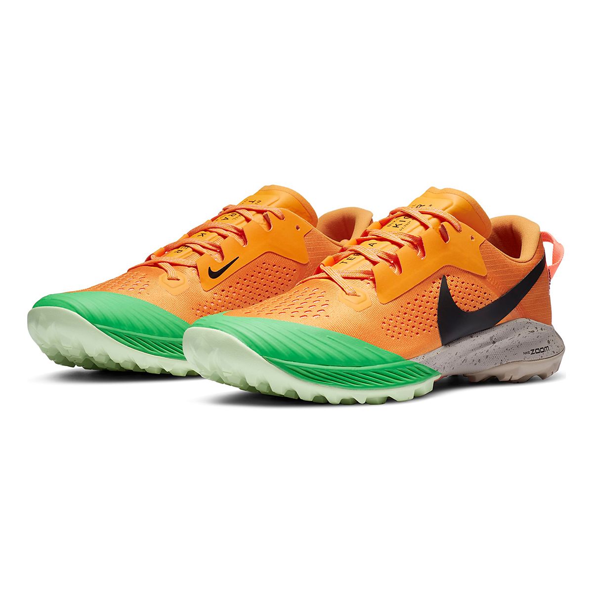 Men's Nike Air Zoom Terra Kiger 6 Trail Running Shoe - Color: Kumquat/Black/Pink Green Spark - Size: 6 - Width: Regular, Kumquat/Black/Pink Green Spark, large, image 3