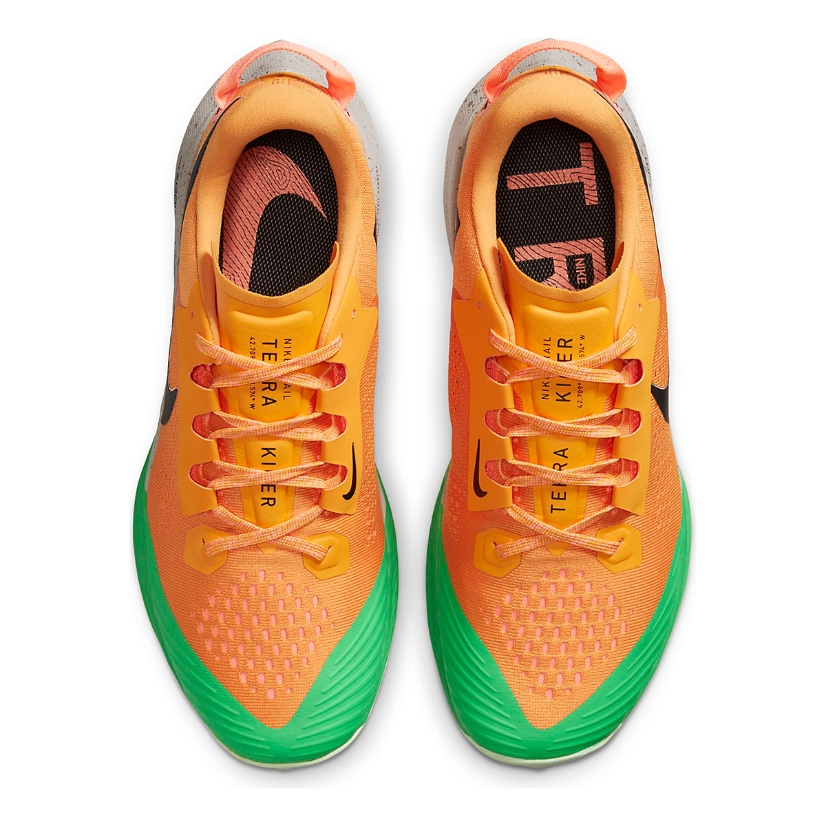 Men's Nike Air Zoom Terra Kiger 6 Trail Running Shoe - Color: Kumquat/Black/Pink Green Spark - Size: 6 - Width: Regular, Kumquat/Black/Pink Green Spark, large, image 4