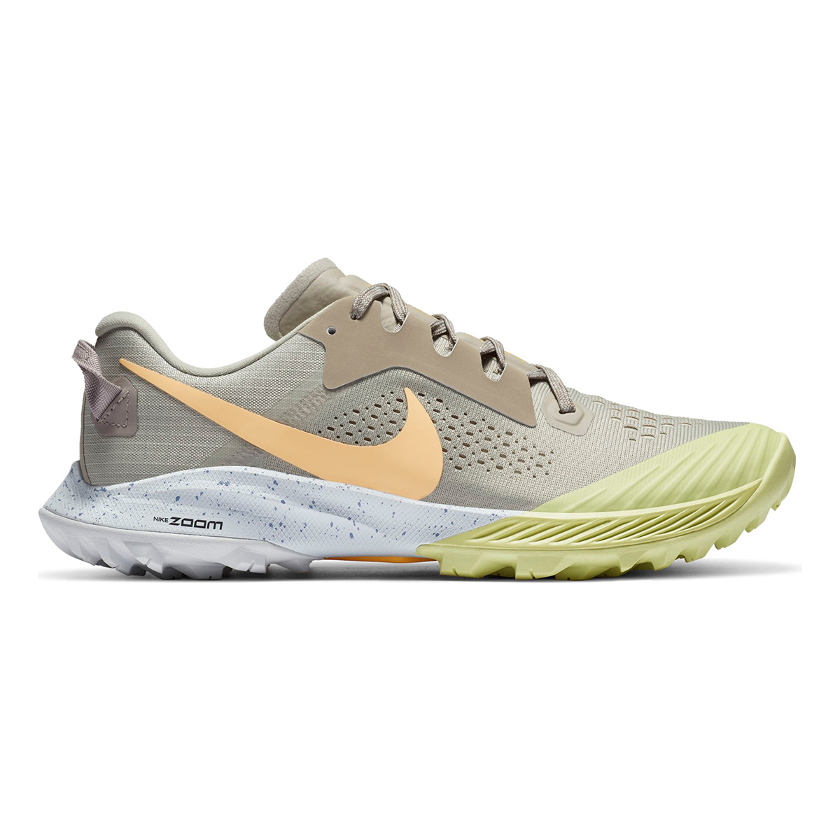 Women's Nike Terra Kiger 6 Trail Running Shoe - Color: Stone/Enigma Stone/Limelight/Melon Tint - Size: 5 - Width: Regular, Stone/Enigma Stone/Limelight/Melon Tint, large, image 1