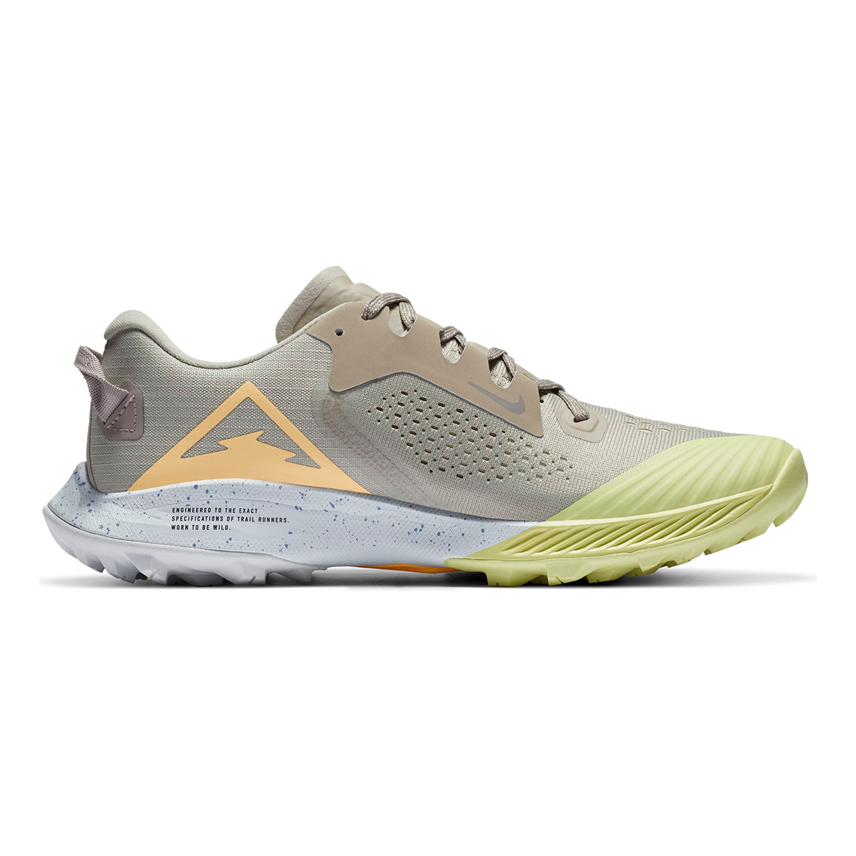 Women's Nike Terra Kiger 6 Trail Running Shoe - Color: Stone/Enigma Stone/Limelight/Melon Tint - Size: 5 - Width: Regular, Stone/Enigma Stone/Limelight/Melon Tint, large, image 2