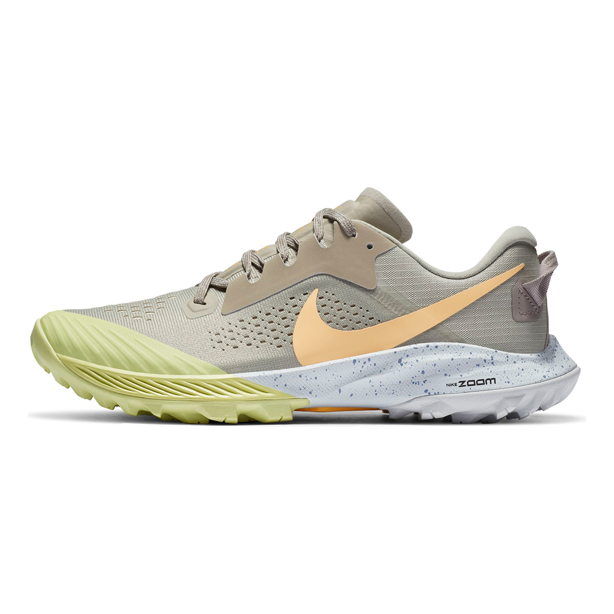 Women's Nike Terra Kiger 6 Trail Running Shoe - Color: Stone/Enigma Stone/Limelight/Melon Tint - Size: 5 - Width: Regular, Stone/Enigma Stone/Limelight/Melon Tint, large, image 3