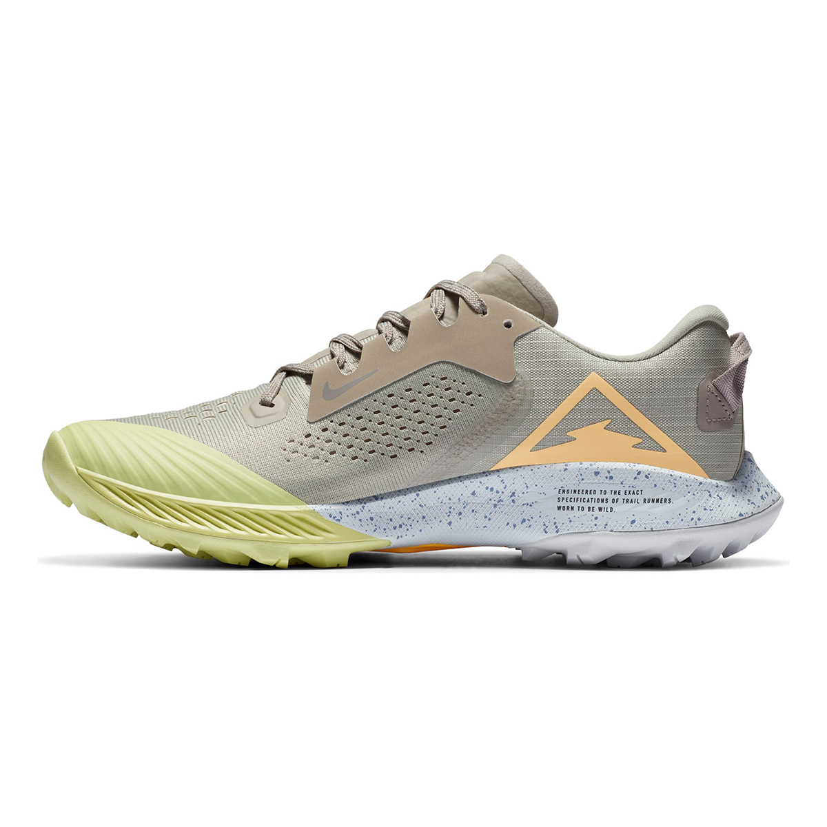 Women's Nike Terra Kiger 6 Trail Running Shoe - Color: Stone/Enigma Stone/Limelight/Melon Tint - Size: 5 - Width: Regular, Stone/Enigma Stone/Limelight/Melon Tint, large, image 4