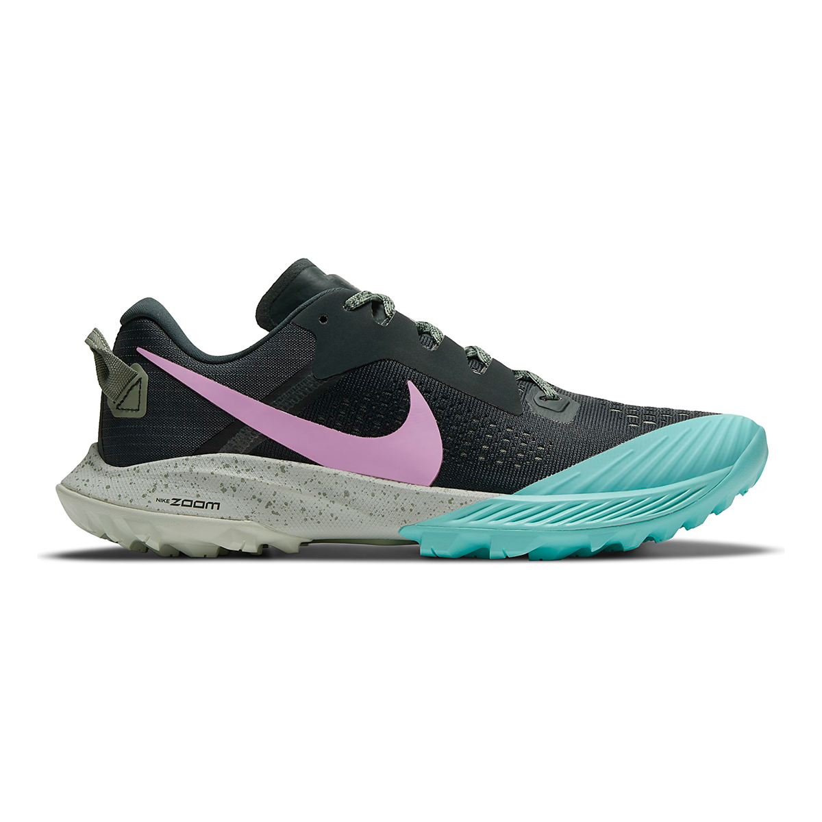 Women's Nike Air Zoom Terra Kiger 6 Trail Running Shoe - Color: Seaweed/Beyond Pink - Size: 5 - Width: Regular, Seaweed/Beyond Pink, large, image 1